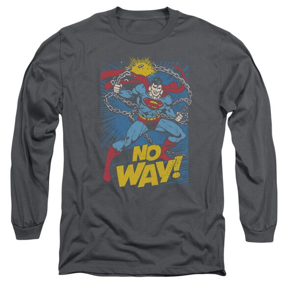 Dc No Way Long Sleeve Adult T-Shirt