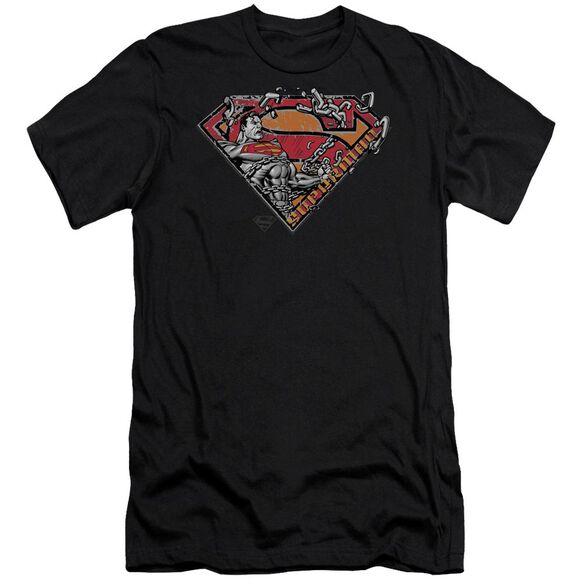 Superman Breaking Chain Logo Premuim Canvas Adult Slim Fit