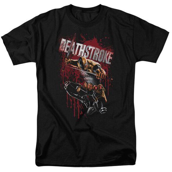 Jla Blood Splattered Short Sleeve Adult T-Shirt