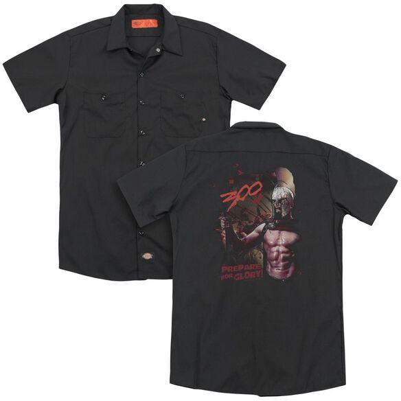 300 Prepare For Glory (Back Print) Adult Work Shirt