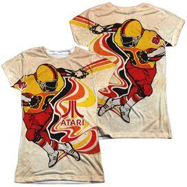 Atari Football (Front Back Print) Short Sleeve Junior Poly Crew T-Shirt