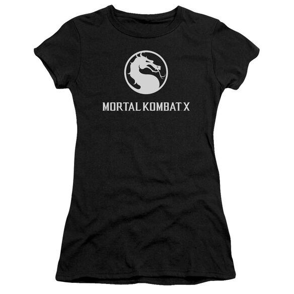 Mortal Kombat X Dragon Logo Short Sleeve Junior Sheer T-Shirt