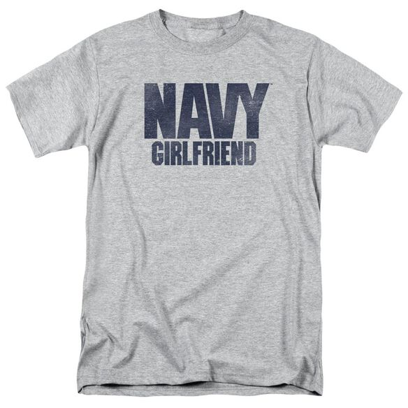 Navy Girlfriend Short Sleeve Adult Athletic T-Shirt