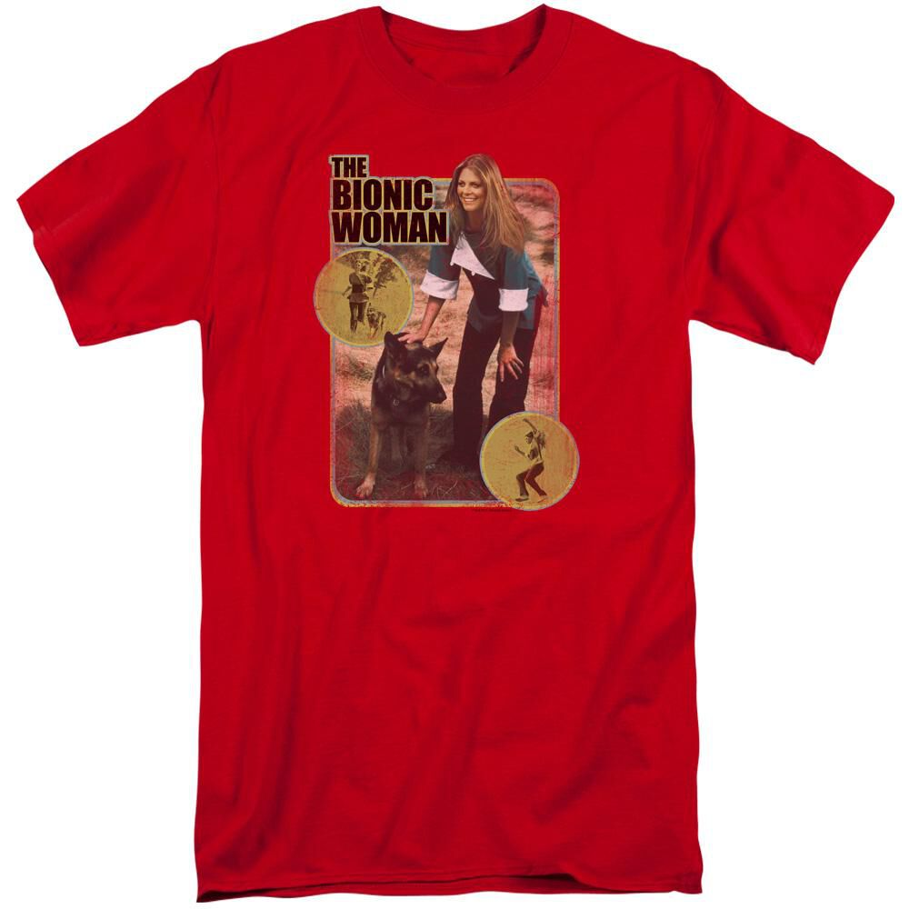 BIONIC WOMAN JAMIE AND MAX-S/S T-Shirt - Red (XL) | FYE