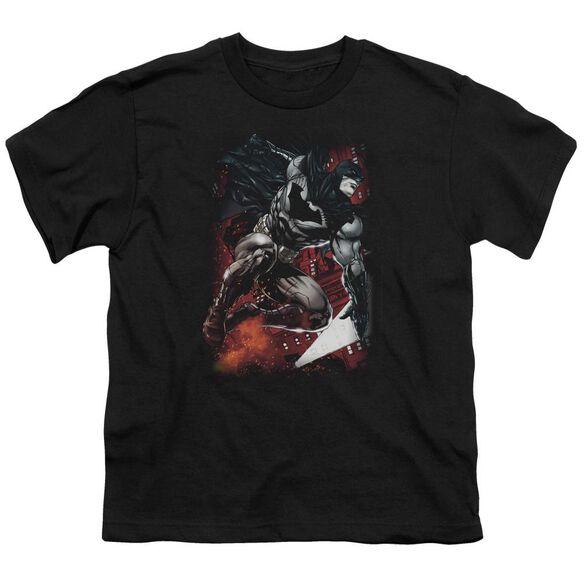Batman Sparks Leap Short Sleeve Youth T-Shirt