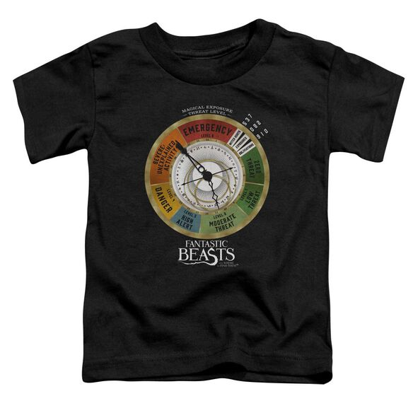 Fantastic Beasts Threat Gauge Short Sleeve Toddler Tee Black T-Shirt