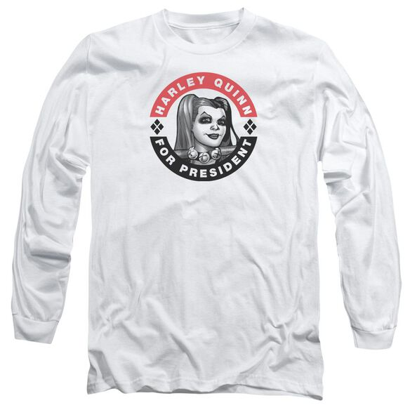 Batman Harley President Circle Long Sleeve Adult T-Shirt
