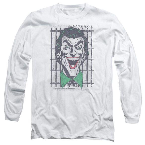 Dc Criminal Long Sleeve Adult T-Shirt