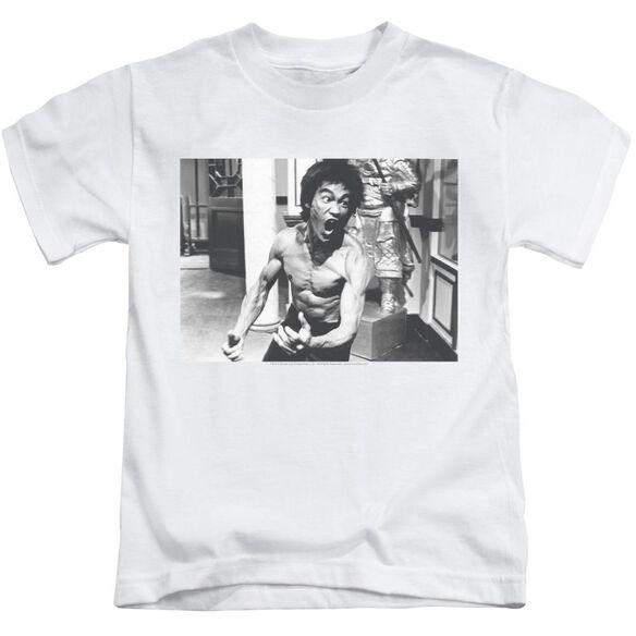 Bruce Lee Full Of Fury Short Sleeve Juvenile White Md T-Shirt