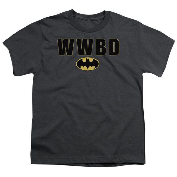 Batman Wwbd Logo Short Sleeve Youth T-Shirt
