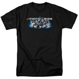 Infinite Crisis Ic Blue Short Sleeve Adult T-Shirt