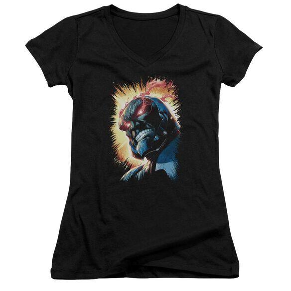 Jla Darkseid Is Junior V Neck T-Shirt