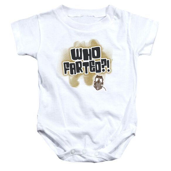 Who Farted Infant Snapsuit White Xl