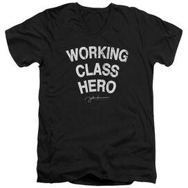 John Lennon Working Class Hero Short Sleeve Adult V Neck T-Shirt