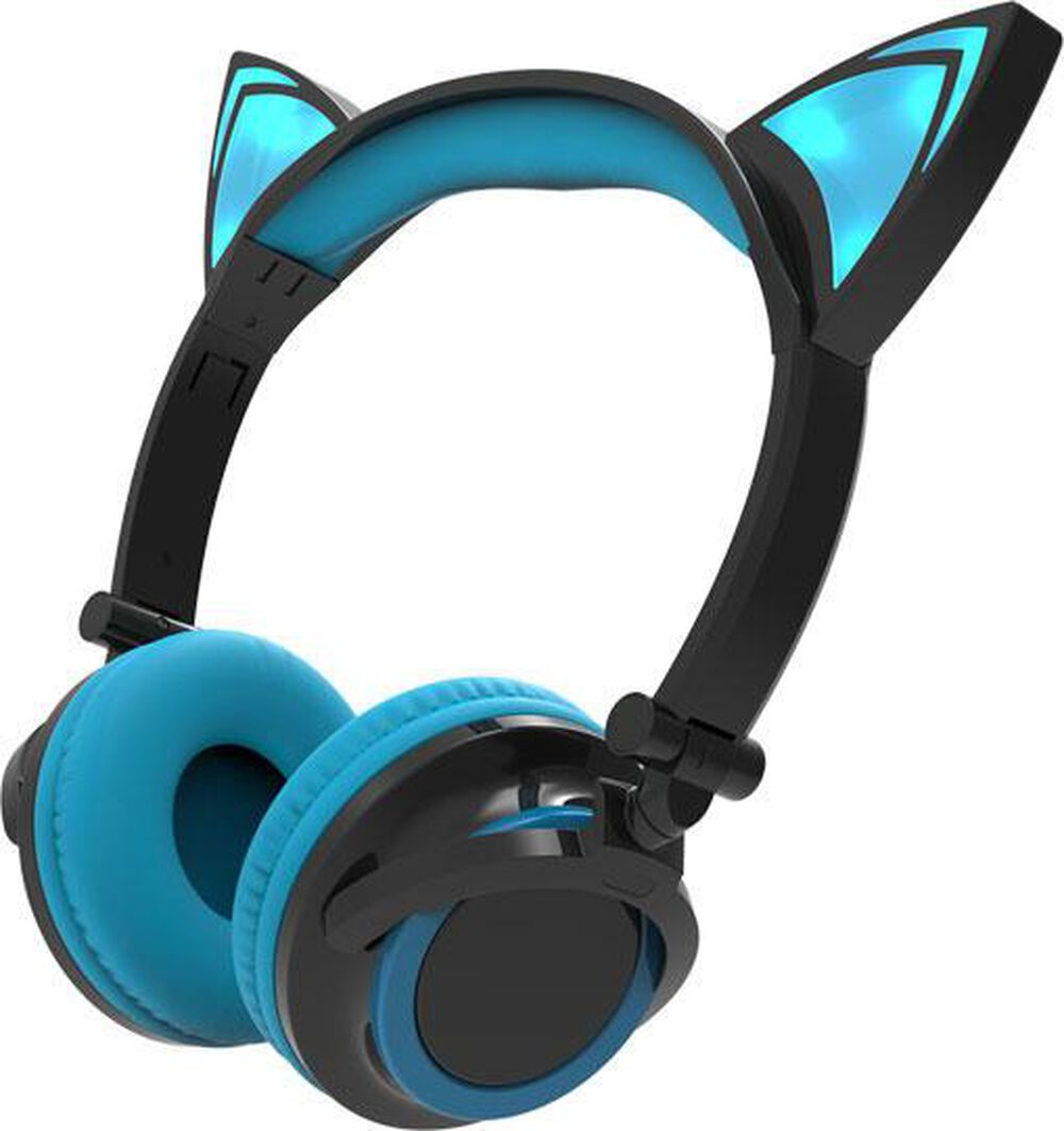 Sharper Image Bluetooth Wireless Earbuds: Sharper Image Bluetooth Cat Ear Headphones - Black