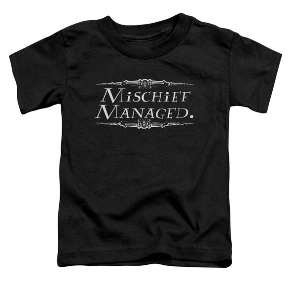 Harry Potter Mischief Managed Short Sleeve Toddler Tee Black T-Shirt