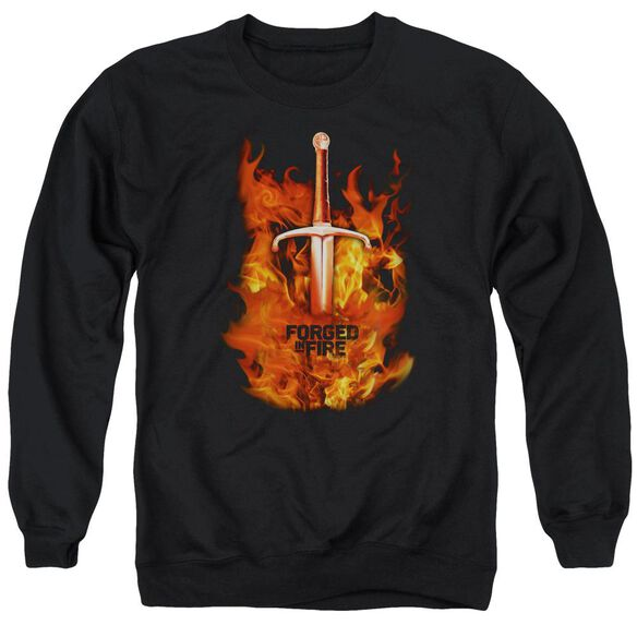 Forged In Fire Sword In Fire Adult Crewneck Sweatshirt