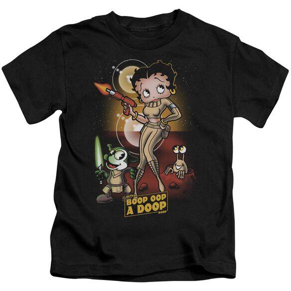 Betty Boop Star Princess Short Sleeve Juvenile Black T-Shirt