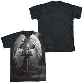 Anne Stokes Prayer For The Fallen Short Sleeve Adult Front Black Back T-Shirt