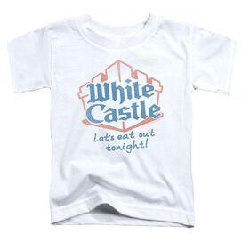 White Castle Lets Eat Short Sleeve Toddler Tee White T-Shirt