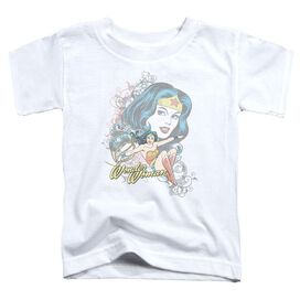 Dc Wonder Scroll Short Sleeve Toddler Tee White Md T-Shirt