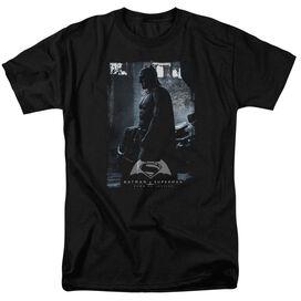 Batman V Superman Bat Poster Short Sleeve Adult Black T-Shirt