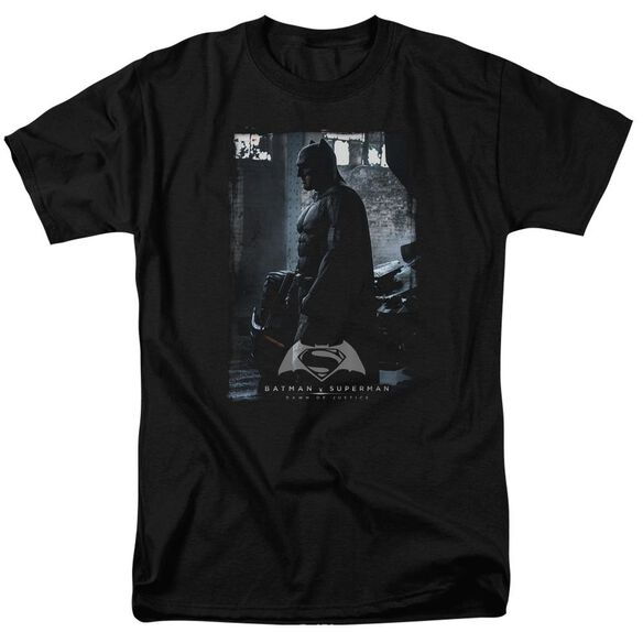 Batman V Superman Bat Poster Short Sleeve Adult Black T-Shirt