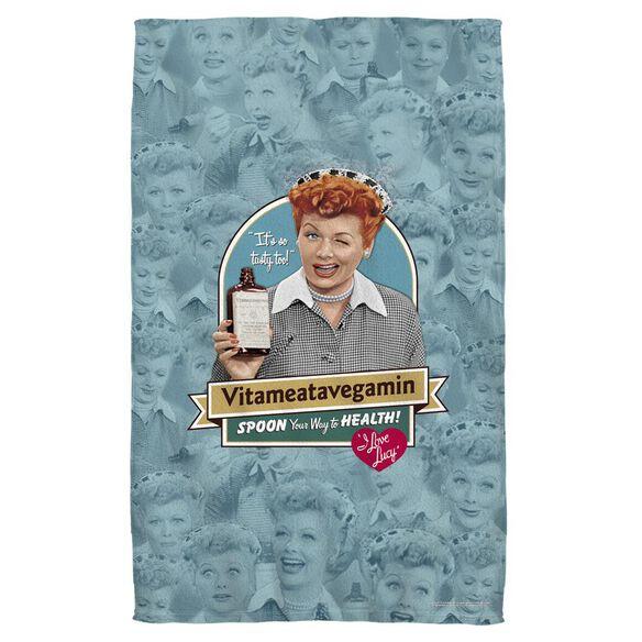 I Love Lucy Vitameatavegamin Bath Towel