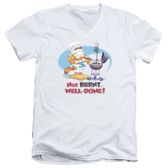 GARFIELD WELL DONE - S/S ADULT V-NECK - WHITE T-Shirt