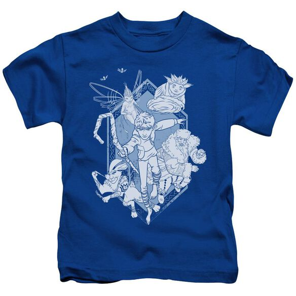 Rise Of The Guardians Coming For You Short Sleeve Juvenile Royal Blue T-Shirt