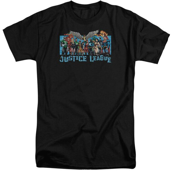 Jla League Lineup Short Sleeve Adult Tall T-Shirt