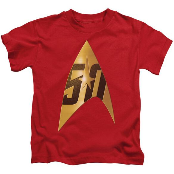 Star Trek 50 Th Anniversary Delta Short Sleeve Juvenile T-Shirt