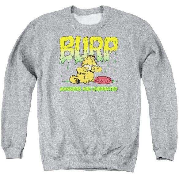 Garfield Manners - Adult Crewneck Sweatshirt - Athletic Heather