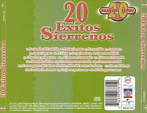 20 Exitos Sierrenos 0703