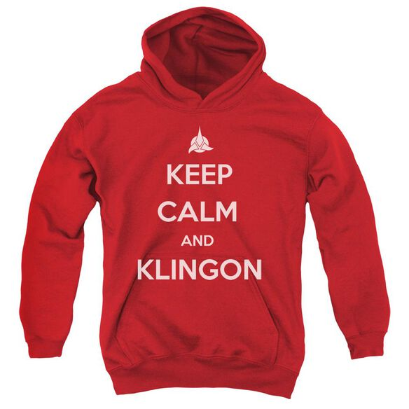 Star Trek Calm Klingon Youth Pull Over Hoodie