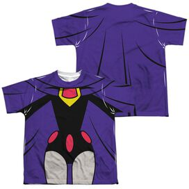 Teen Titans Go Raven Uniform (Front Back Print) Short Sleeve Youth Poly Crew T-Shirt