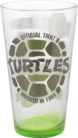 Ninja Turtles Heads Mutated in 1984 Pint Glass