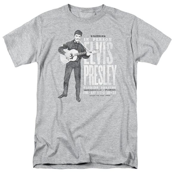Elvis In Person Short Sleeve Adult Athletic Heather T-Shirt