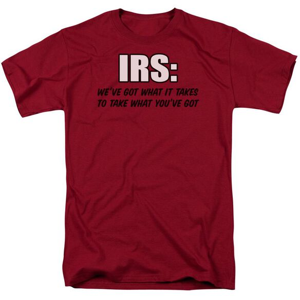 Irs Short Sleeve Adult Cardinal T-Shirt