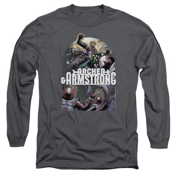 Archer & Armstrong Dropping In Long Sleeve Adult T-Shirt