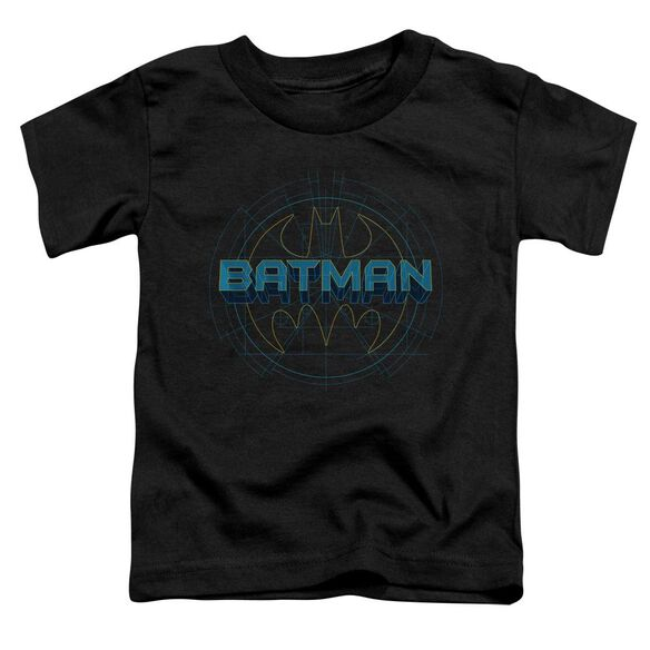 Batman Bat Tech Logo Short Sleeve Toddler Tee Black Sm T-Shirt