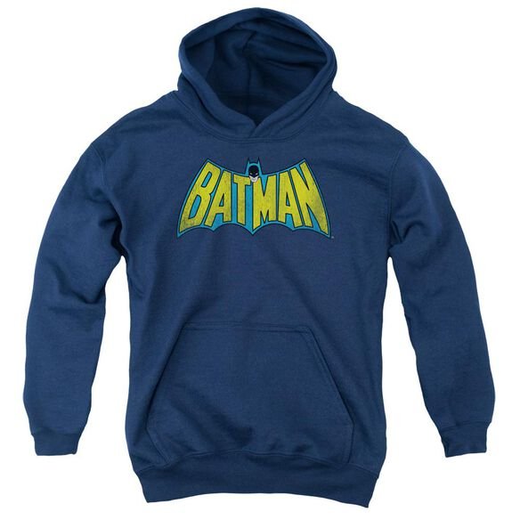 Dc Classic Batman Logo-youth Pull-over Hoodie - Navy