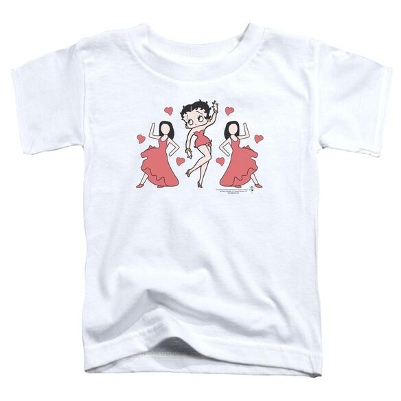 Betty Boop Bb Dance Short Sleeve Toddler Tee White T-Shirt