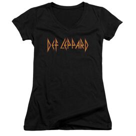 Def Leppard Horizontal Logo Junior V Neck T-Shirt