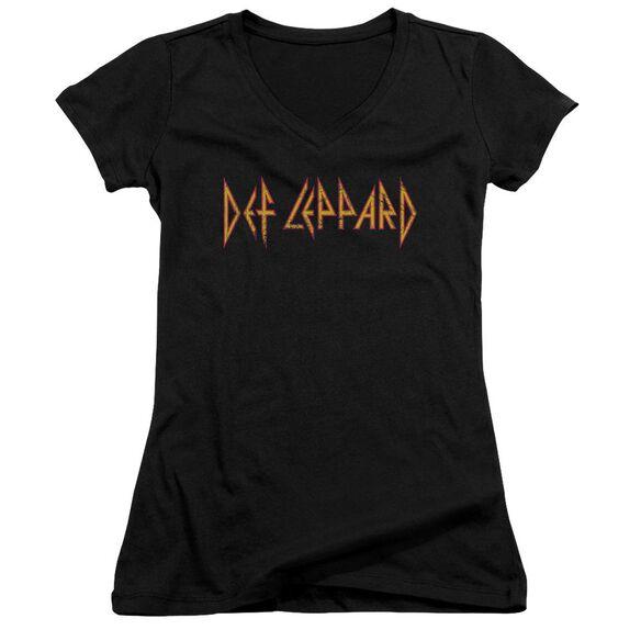 Def Leppard Horizontal Logo Junior V Neck T-Shirt