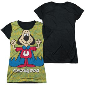 Underdog Flexing Short Sleeve Junior Poly Black Back T-Shirt