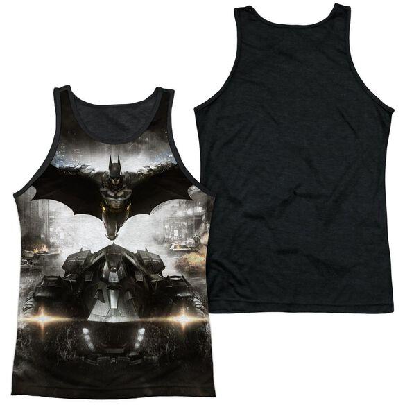 Batman Arkham Knight Poster Adult Poly Tank Top Black Back
