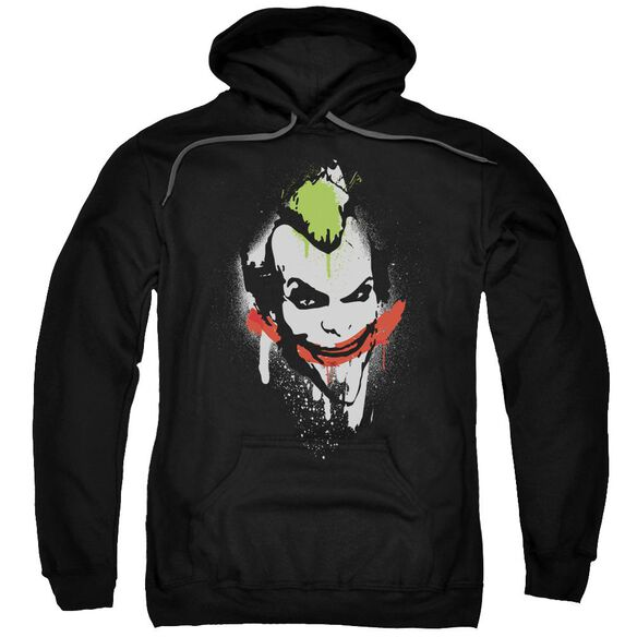 Arkham City Spraypaint Smile Adult Pull Over Hoodie