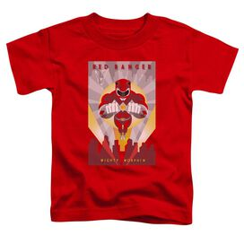 Power Rangers Red Deco Short Sleeve Toddler Tee Red T-Shirt