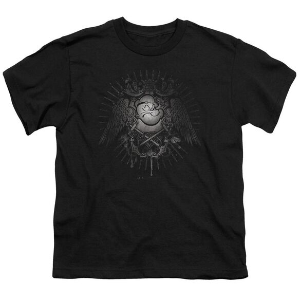 Popeye Sailor Heraldry Short Sleeve Youth T-Shirt